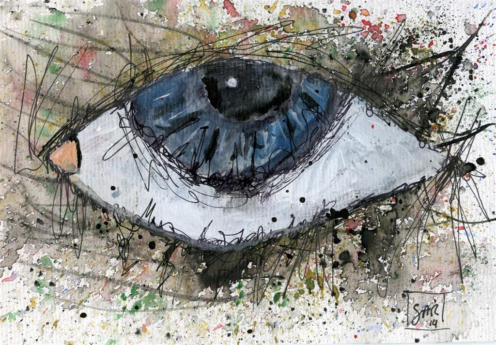mixed media eye